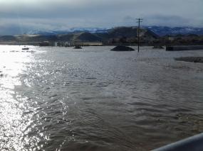USECC - Flooding Jan 2017 Butler Ranch North at Mira Loma looking south