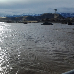 USECC - Flooding Jan 2017 Butler Ranch North at Mira Loma looking south